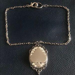 Gasoline Glamour Jeweled Spade Pendant/Necklace